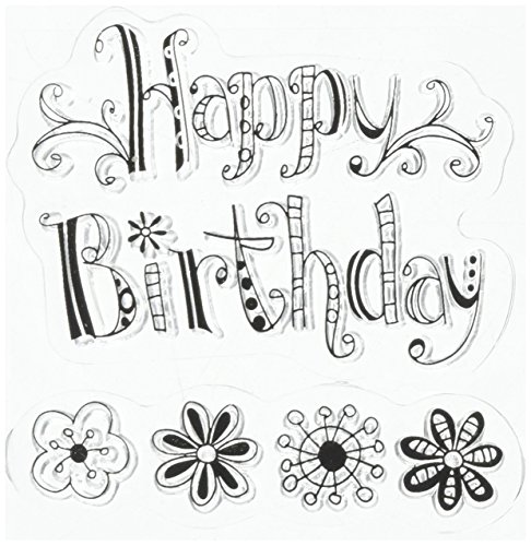 Inkadinkado Clear Mini Stamps, Happy -