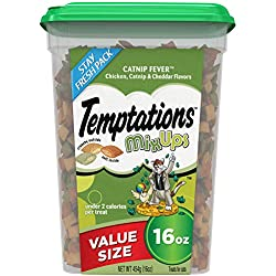 TEMPTATIONS MixUps Cat Treats CATNIP FEVER, 16 oz. Tub