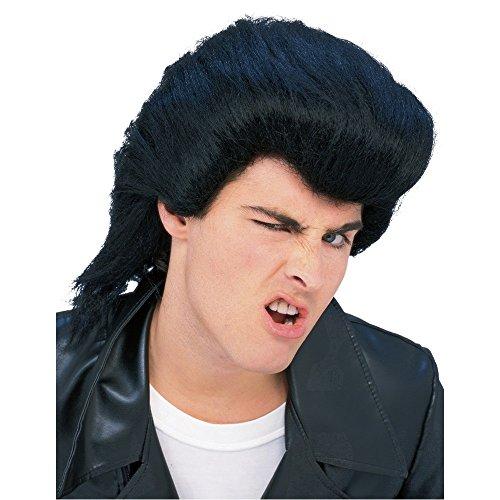 Rockabilly Costume Men (Greaser Rockabilly Men's 50's Pompadour Costume Wig Accessory)
