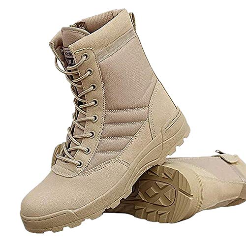 Tailisha Military Tactical Boots for Women Men Comp Toe Jungle Combat Boots with Side Zip