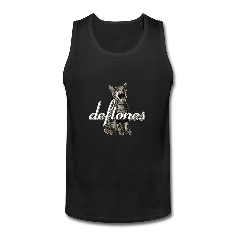 OULIN Men's Deftones Art Vest Black XXXL