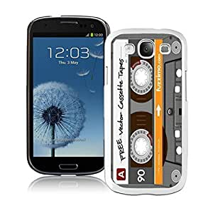 Cute Samsung Galaxy S3 Case Durable Soft Silicone Rubber Retro Audio Cassette Cell Phone Case Cover