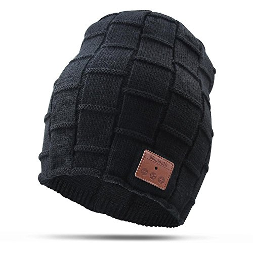 Bluetooth Beanie Hat, Wireless 4.1 Hand - Free Knit Hat Cap with Musicphone Speakerphone Stereo Headphone for Fitness Outdoor Sports & Unique Christmas Tech Gifts for Women Men Boys and Girls (Knit Driver Cap)