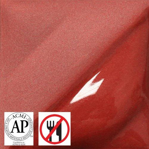 Amaco Velvet Underglaze - 2 oz - V-382 Red (Red Velvet Underglaze)