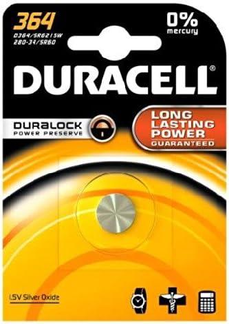 Duracell 364 363 Knopfzelle Silberoxid 1 Stück Elektronik