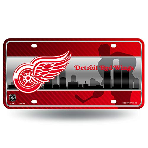 - NHL Detroit Red Wings Metal License Plate Tag