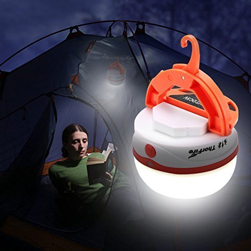 ThorFire LED Rechargeable Camping Lantern Emergency Tent Light Lamp Water Resistant with Magnet and Hook Hiking Jogging Outdoor -CL05