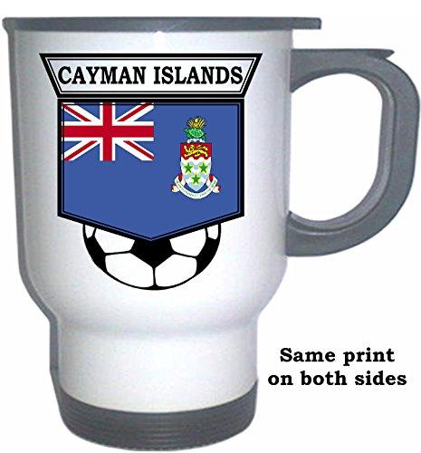 - Cayman Islands Soccer White Stainless Steel Mug