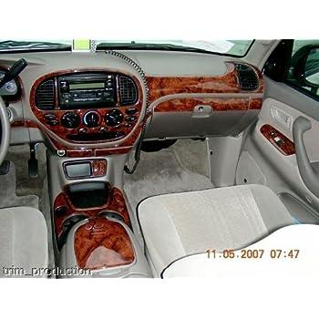 Toyota Solara Interior Burl Wood Dash Trim Kit Set 2004 2005 2006 2007 2008 Automotive