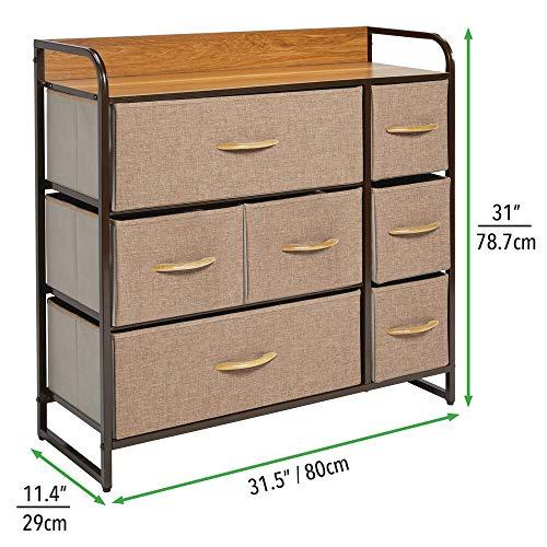 Amazon.com: mDesign - Cómoda de almacenamiento con 7 cajones ...