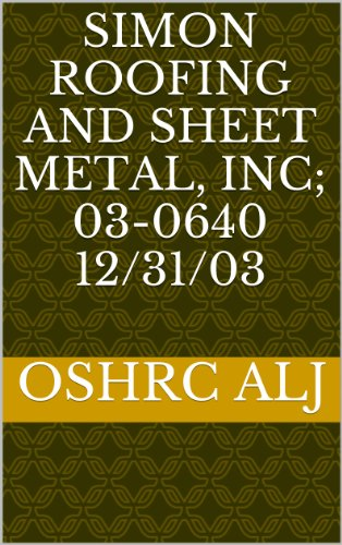 Metal Roofing Systems - Simon Roofing and Sheet Metal, Inc; 03-064012/31/03