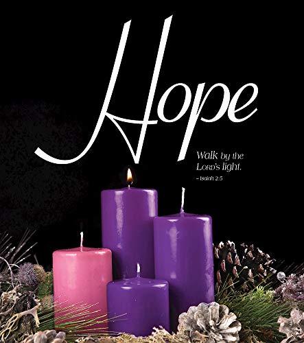 Hope Advent Candle Sunday 1 Bulletin, Large (Pkg of 50)