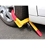 Emerging Yellow Anti Theft Car Wheel Tyre Lock Clamp / Heavy Duty Anti-Theft Tyre Wheel Clamp Lock Car /Heavy Duty Anti Theft Protective Car Wheel Lock Security Tire Clamp For Toyota Fortuner TRD Sportivo4X2 Automatic Diesel