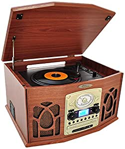 Pyle ptcds7ubtbw bluetooth turntable system for Classic house cd