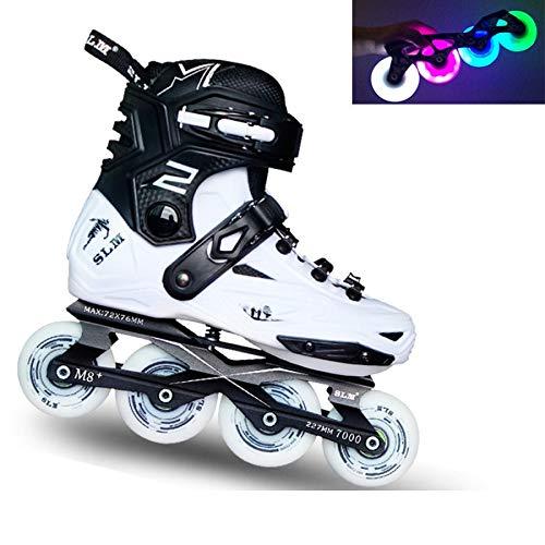 娘知人れんがDSFGHE Glowing Wheels No Fear キッズ ガール インラインスケート靴下 取り外し可能 ペダル 36cm 07230