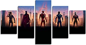 hcozy Print Painting Canvas, 5 Pieces Avengers-Endgame Canvas Wall Art Painting for Home Living Room Office Mordern Decoration Gift(Unframed)