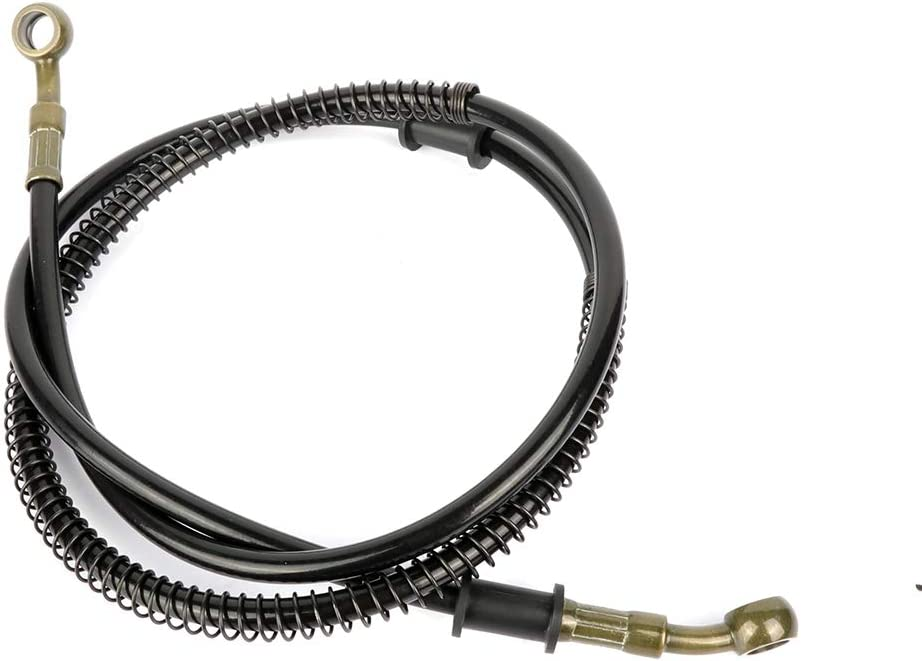 AUTOMUTO black Motorbike Braided Stainless Steel Brake Oil Hose Line Fit for 1984-2015 Harley-Davidson Dyna 1992 Harley-Davidson Dyna Glide Oil Hose Length 120cm