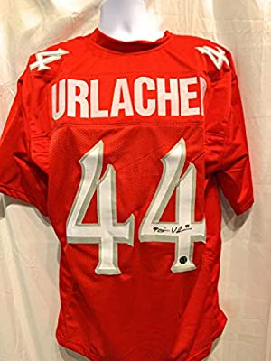 cd8a7519a2c Brian Urlacher New Mexico Lobos Signed Autograph Red Custom Jersey Urlacher  Authentics Certified