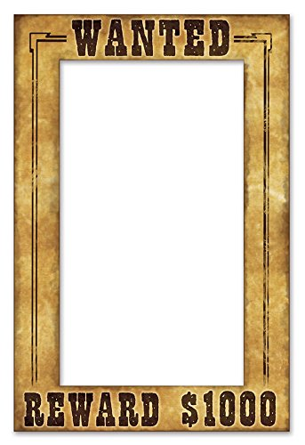 Beistle 52158 Western Wanted Photo Fun Frame, 15.5