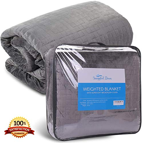 Cheap SnuggledDown Weighted Comforter Blanket   Heavy Weighted Blanket for Adult   Anxiety   Soft Cover   Queen Size   60