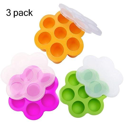 Moldes de silicona para huevos de bebé, contenedores para ...
