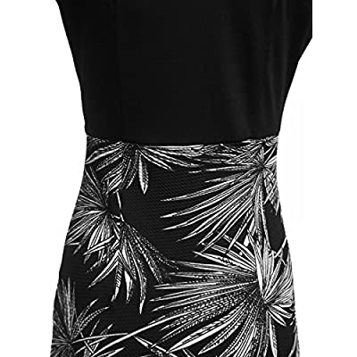 CISMARK Women's Chic Color Block V-Neck Sleeveless Office Pencil Dress at Women's Clothing store