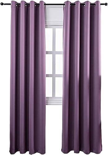 MANGATA CASA Bedroom Blackout Curtains Grommets 2 Panels,Thermal Window Curtain Drape