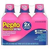 Pepto Bismol Ultra Strength, Original Flavor, Triple Pack 36 oz. each. (pack of 6)