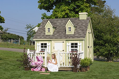 Little Cottage Company Cape Cod DIY Playhouse Kit, 6' x 8' Cape Cod House Kit