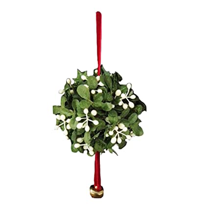 kurt adler mistletoe ball christmas ornament