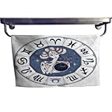 Sports Ttowel Zodiac Sign Libra as a Beautiful Girl Horoscope Astrology Victor Towel