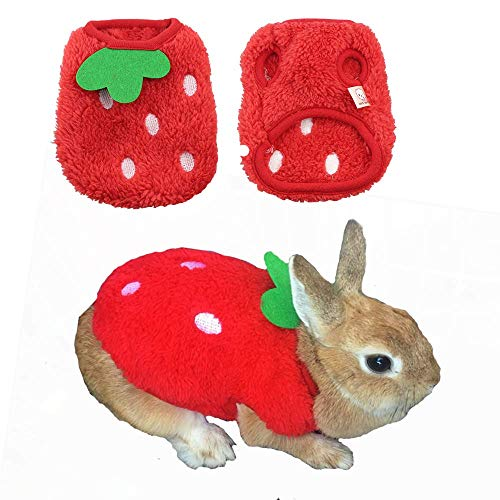 ANIAC Pet Costume Cute Rabbit Clothes Soft Bunny Vest Cozy T-Shirt for Kitten Ferret Chihuahua Puppy and Small Animals