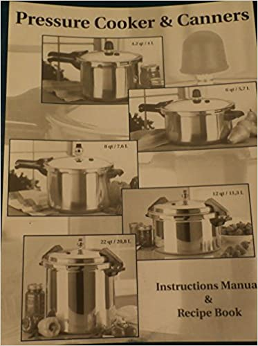 Pressure Cooker Canners Instructions Manual Recipe Book Mirro