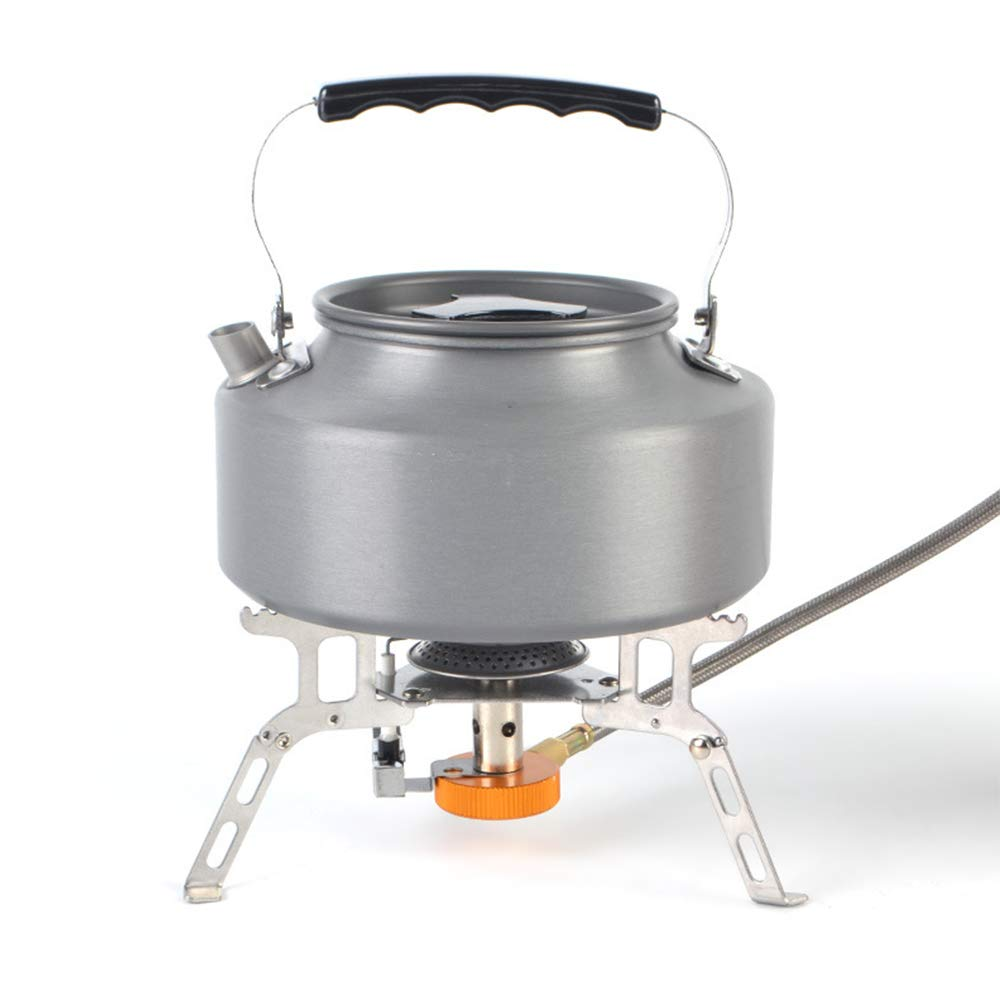 Hiking Camping Mountaineering Riding Backpacking Stove Camping Stove with Piezo Ignition Adjustable Valve Stainless Steel Material For Backpacking