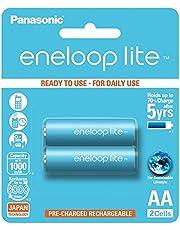 Panasonic Eneloop Lite Rechargeable Batteries, AA, 2 Count