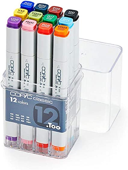 - 12 Pack Warm Grey Copic Marker Set pack Of 12