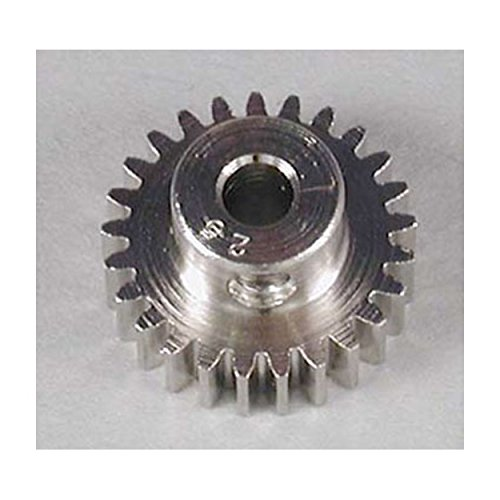 Robinson Racing 1025 Hard Nickel Plated Steel Motor Pinion Gear, 1/8