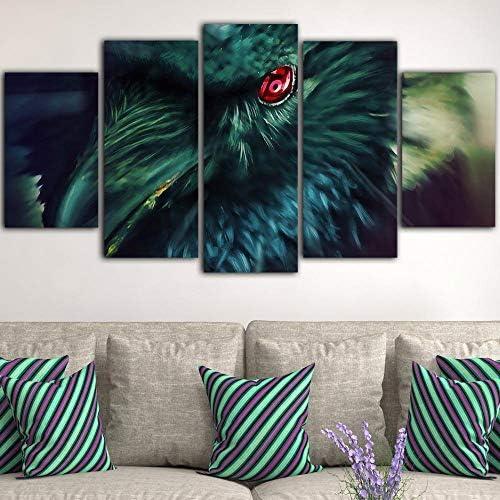 グリーンバードキャンバス絵画壁写真用リビングルーム北欧装飾ホーム壁画40X60Cmx2 40X80Cmx2 40X100Cmx1