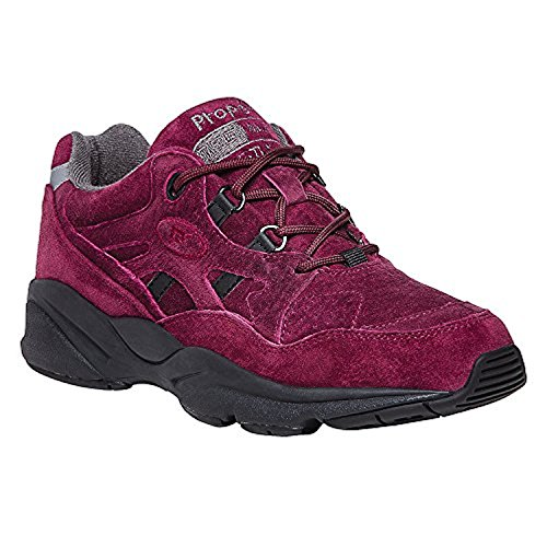 Propet Womens Stability Walker Shoe & Oxy Cleaner Bundle Berry Suede MkGfb7