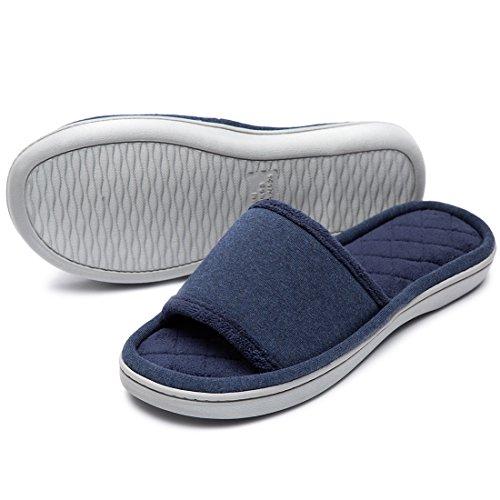 HomeTop Damen Hausschuhe Marineblau