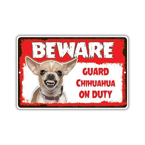 Cuidado Guardia Chihuahua perro de guardia de la novedad ...