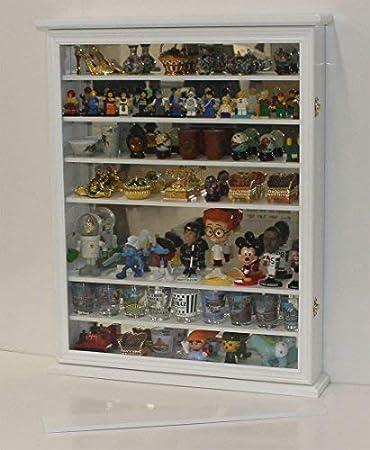 SC13-BL Mirror Back-Black Finish Large Shot Glass//Shooter Display Case Cabinet Rack Holder Wall Curio Cabinet