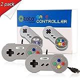 kiwitatá SNES USB Controllers,Classic Retro Super SNES Gamepad Joypads for Win PC MAC Raspberry pi Gamepads (Pack of 2 )