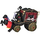 "Halloween Inflatable Horse Drawn Hearse 106"" Airblown Decoration"