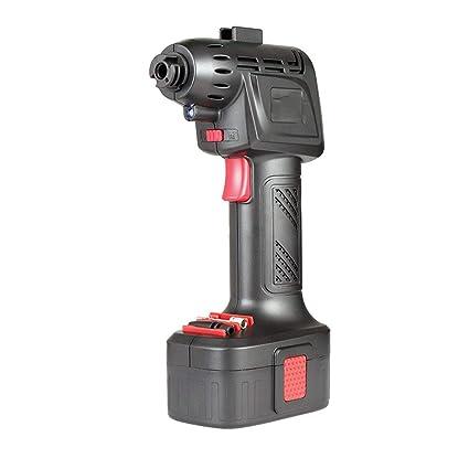 Ruitx Inflador De Neumático Manual, Compresor De Aire Sin Cuerda Automático, 12V 130PSI para