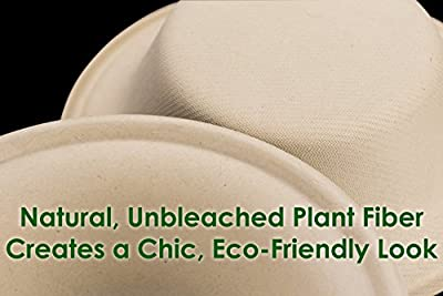 Biodegradable, Plant-Based, Tree Free, Disposable Bowls Multi Pack. Sturdy, Gluten Free Wheatstraw Fiber is Certified Compostable, Eco-Friendly, Microwavable and Safe for Hot and Cold Foods