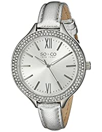 SO & CO New York Women's 5089.1 SoHo Analog Display Quartz Silver Watch
