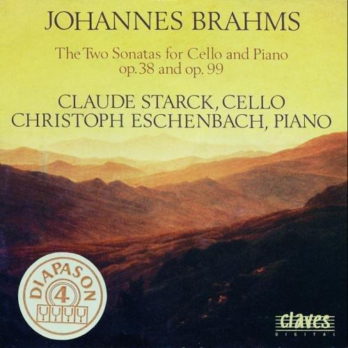 Price comparison product image Brahms The 2 Sonatas For Cello & Piano. (Claude Starck & Christoph Eschenbach)