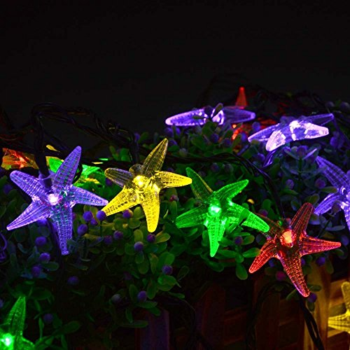 free shipping original starfish solar string lights 20 ft 30 led fairy christmas lights decorative