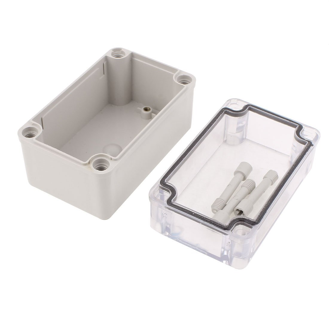 Amazon.com: eDealMax 130 x 80 x 85 mm cubierta transparente impermeable Box Junction Terminal Box Enclosure: Electronics